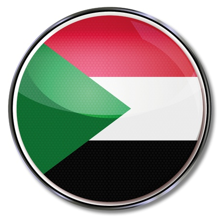 sudan: Button Sudan Illustration
