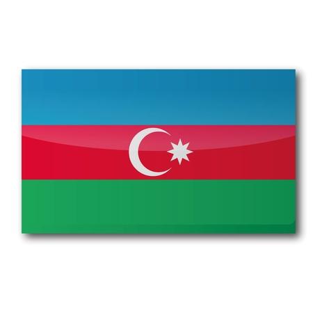 landlocked country: Bandera de Azerbaiy�n