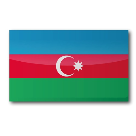 azerbaijan: Flag Azerbaijan