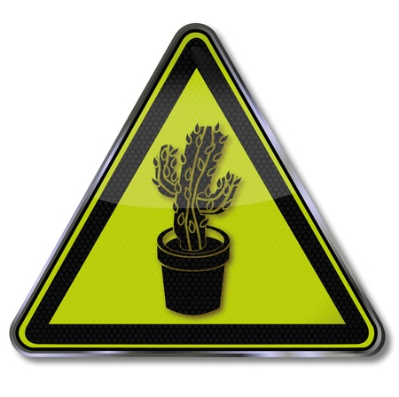 deficiency: Sign cactus Illustration