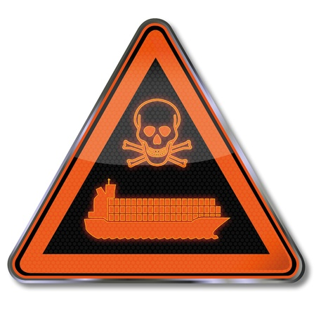 Sign poison sea transport Stock Vector - 18098924