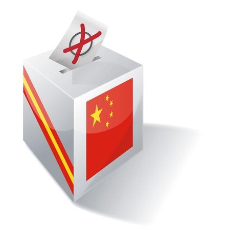 absentee voting: Ballot box China