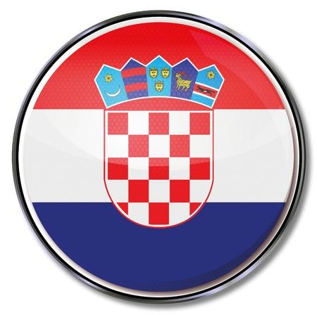 croatia flag: Button Croatia Illustration