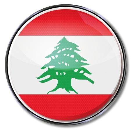 southwest asia: Button Lebanon Illustration