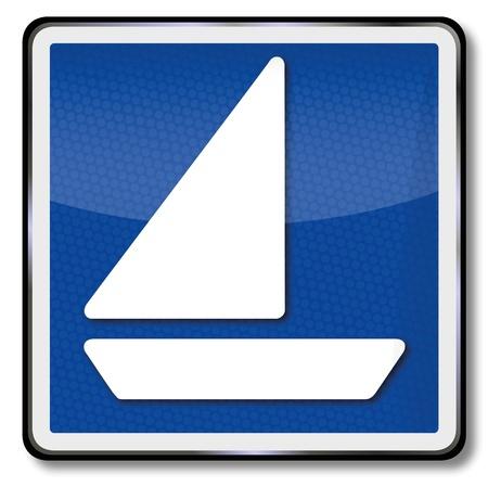 license: Ship sign license for sailing vessels Illustration