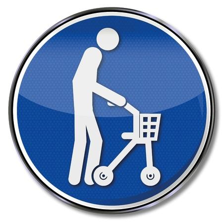 despacio: Regístrate anciano con andador