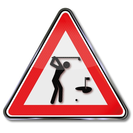 Sign golfer and golf Stock Vector - 18241031