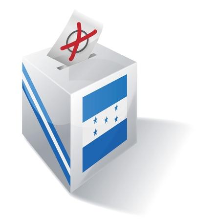 Ballot box Honduras Vector