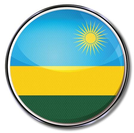 Button Rwanda Vector