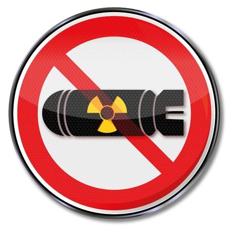 bombe atomique: Inscription bombe atomique Illustration