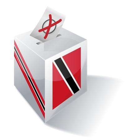 absentee: Ballot box Trinidad and Tobago Illustration