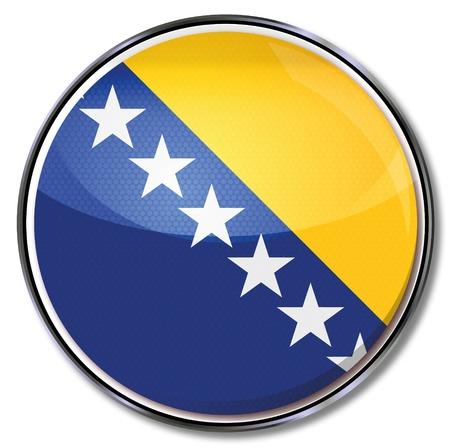 herzegovina: Button Bosnia-Herzegovina