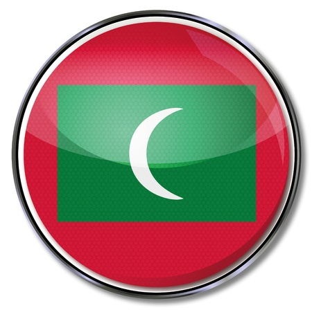 Button Maldives Vector