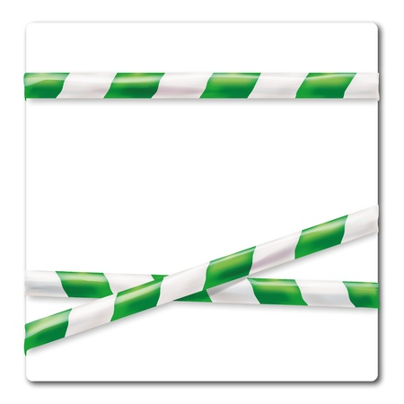 pape: Barrier tape green and white