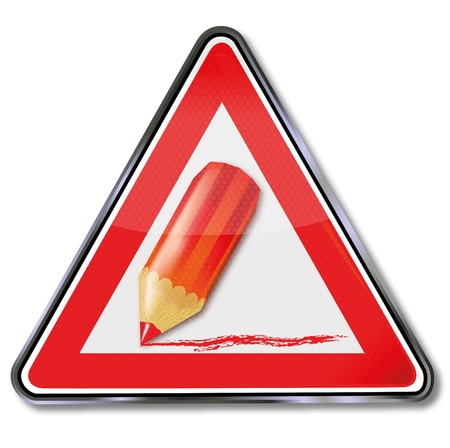 Sign cutbacks and red pencil Stock Vector - 18538909