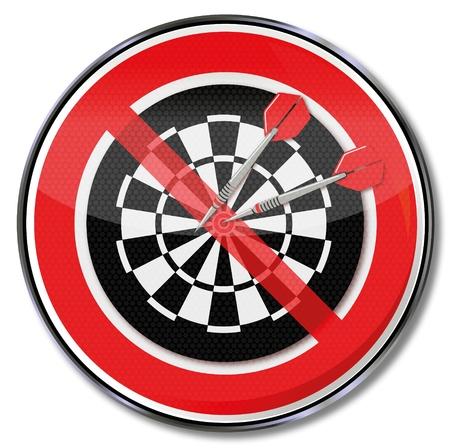 Sign no darts Illusztráció