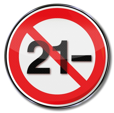 majority: Forbidden sign for age under 21