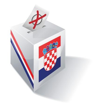 Ballot box Croatia Vector