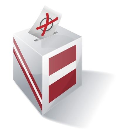 absentee: Ballot box Latvia