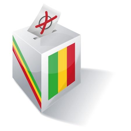 absentee voting: Ballot box Mali