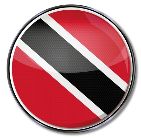 port of spain: Button Trinidad and Tobago  Illustration