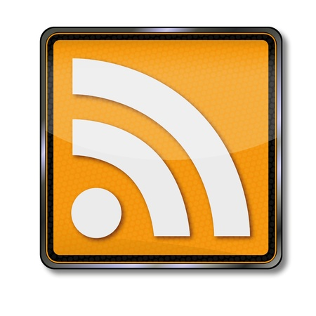 addressee: Sign RSS Really Simple Syndication Illustration