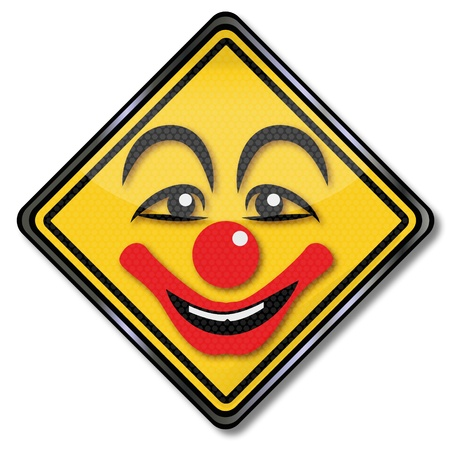astonished: Sign clown in hospital