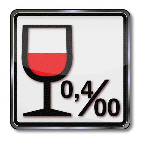 Sign alcohol limit and alcohol 0 04 Vector