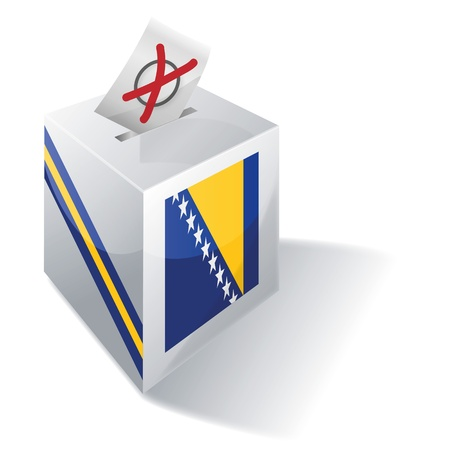basic law: Ballot box Bosnia-Herzegovina Illustration