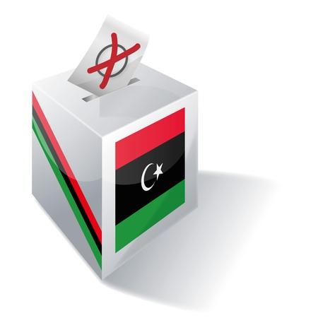 absentee: Ballot box Libya Illustration