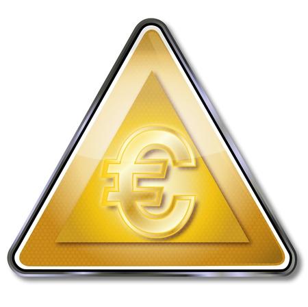 severance: Golden euro sign Stock Photo