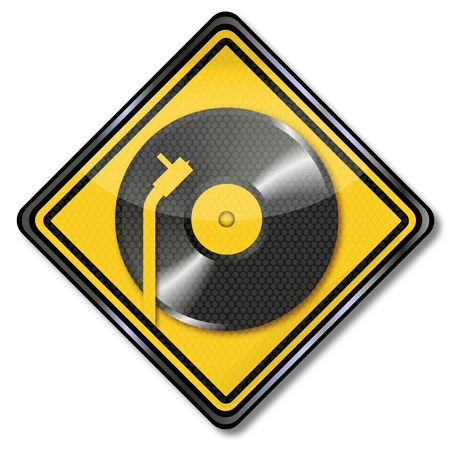 gold record: Record, turntable and venyl Stock Photo