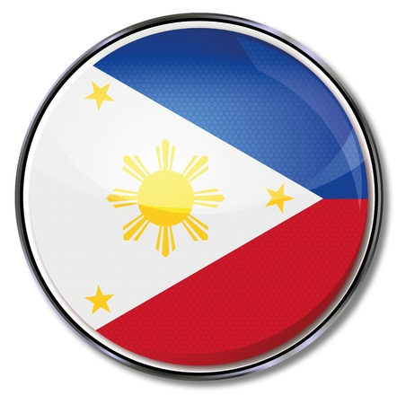 philippine: Button Philippines Illustration