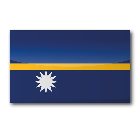 Flag Nauru Stock Vector - 18856082