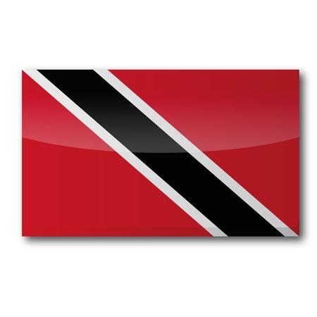 trinidad: Flag Trinidad and Tobago Illustration