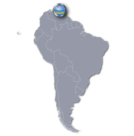 south america map: South America map Aruba