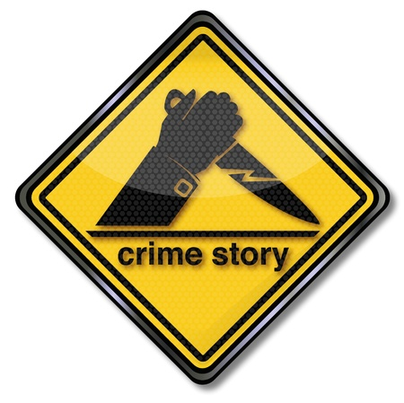 Sign crime story Vector
