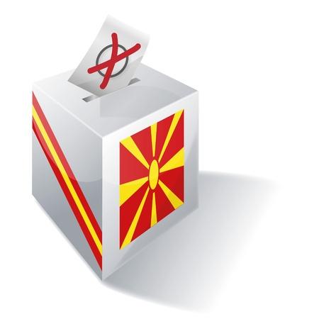 landlocked country: Urna electoral Macedonia