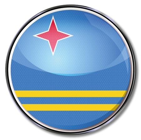 antilles: Button Aruba Illustration