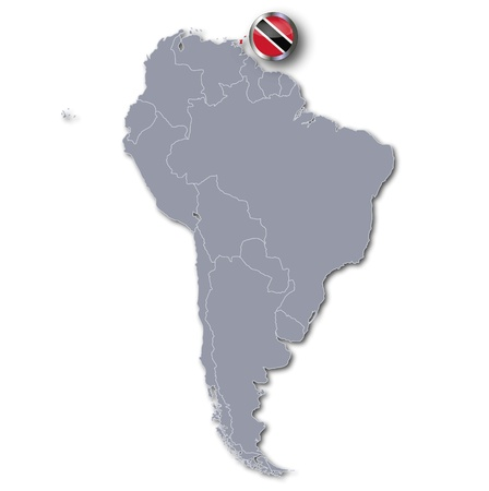 latin americans: South America map Trinidad and Tobago
