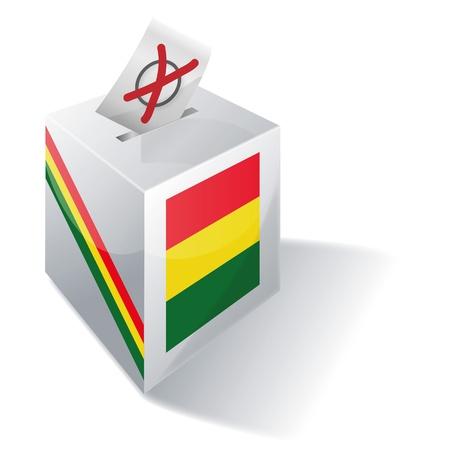 absentee voting: Ballot box Bolivia Illustration