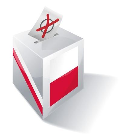 absentee voting: Ballot box Poland