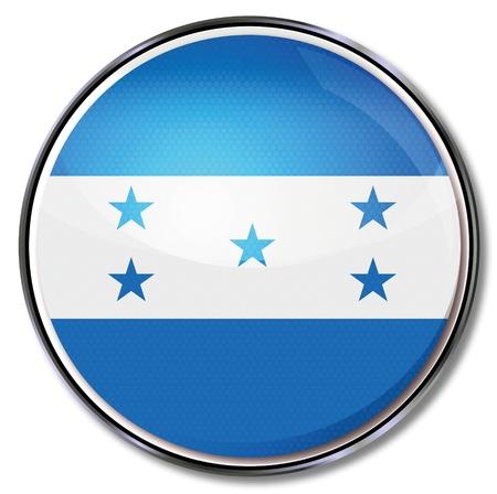 bandera honduras: Botón de Honduras Vectores