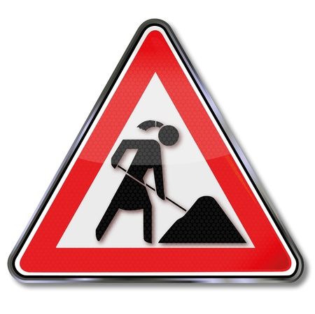 Sign woman work Vector