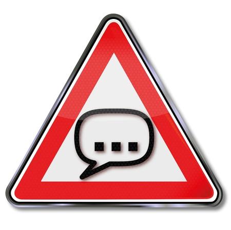 Unsinn: Registrieren Rede und Sprechblase