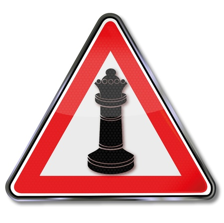 strategically: Sign chess and pawn queen Illustration