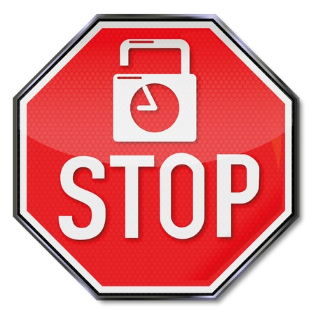 Sign stop timelock Vector