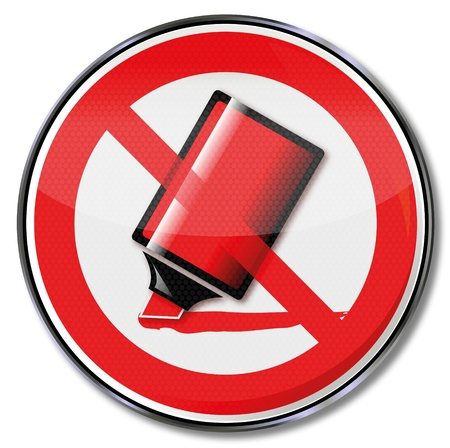 dismissal: Sign no dismissal with red pen strokes