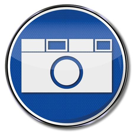 Meld camera en compact camera Stock Illustratie