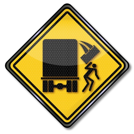 pictogram attention: Warning sign unsafe charge